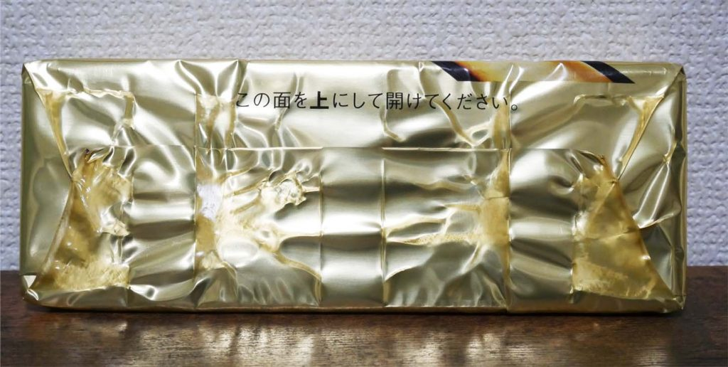 金のチーズケーキ開け方