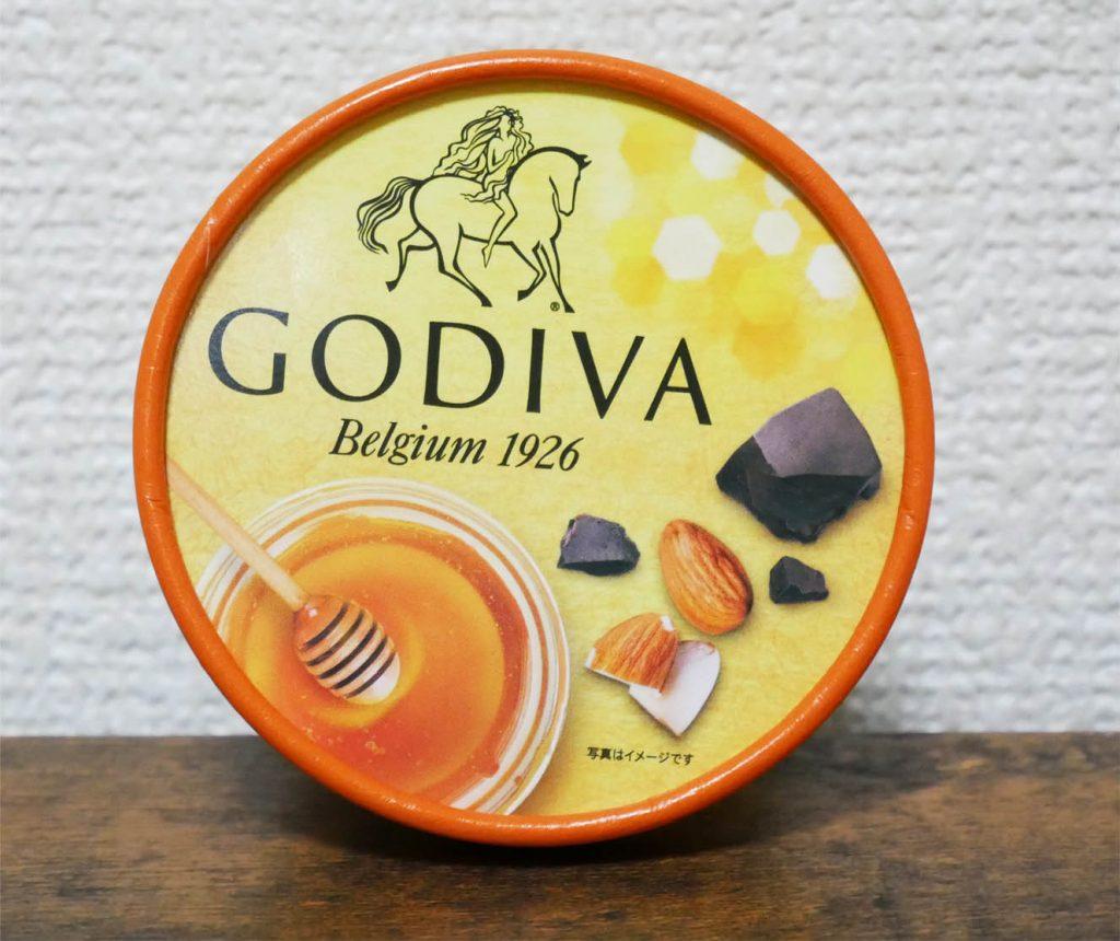 ゴディバ 蜂蜜アーモンドとチョコレートソースの蓋