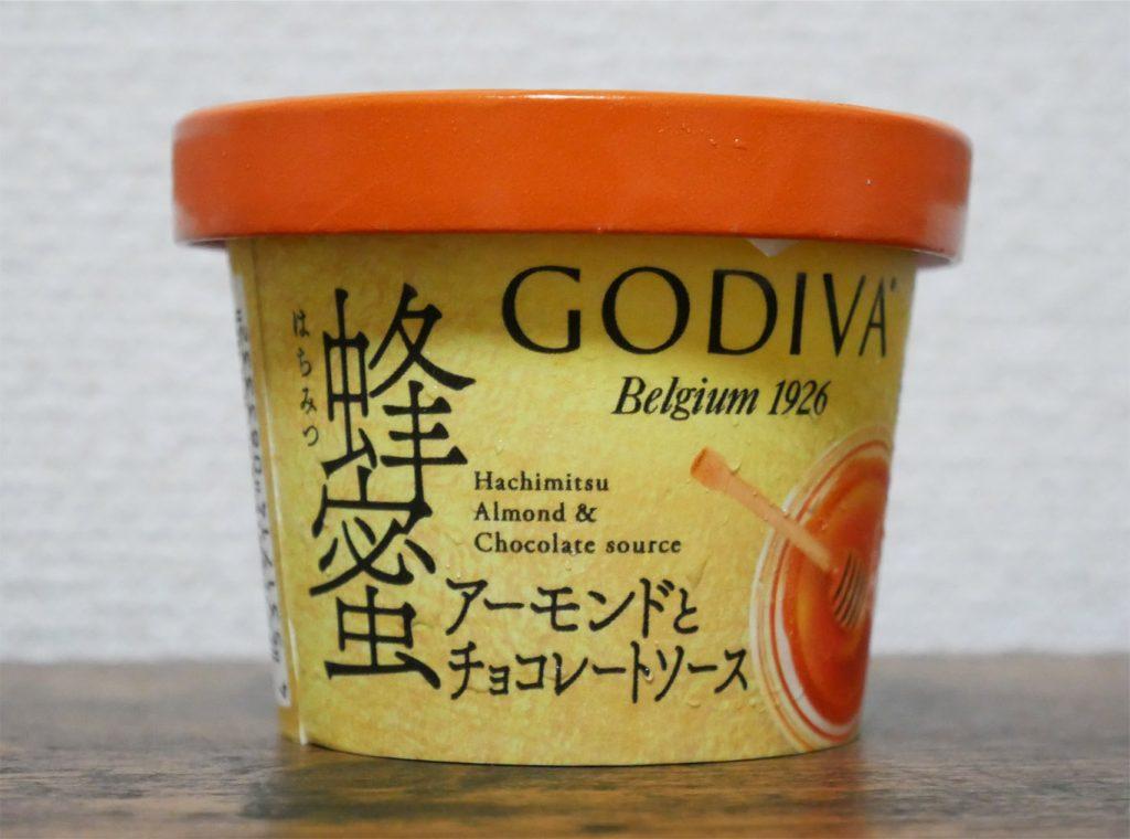 ゴディバ 蜂蜜アーモンドとチョコレートソースのパッケージ