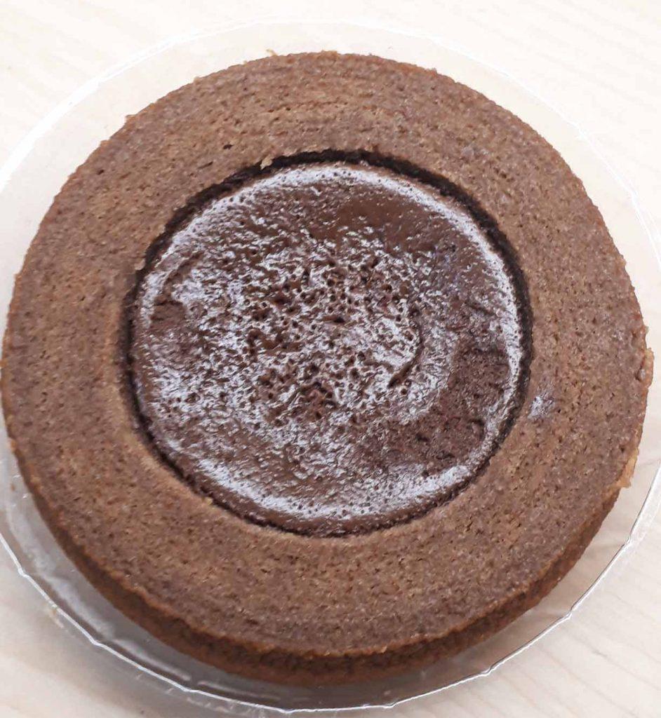 生チョコを使ったチョコケーキのバウム開封後2