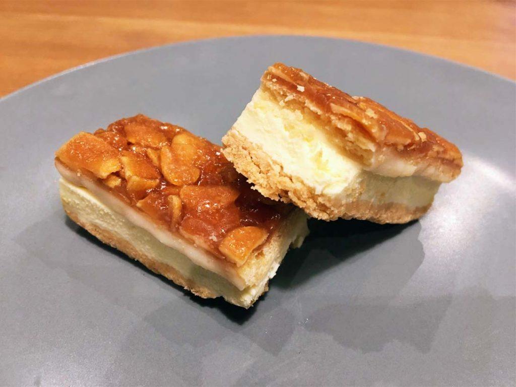 生フロランタン チーズケーキ断面図