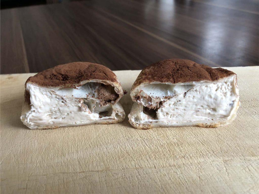 モアホボクリム‐ほぼほぼクリームのシュー ショコラ‐断面図