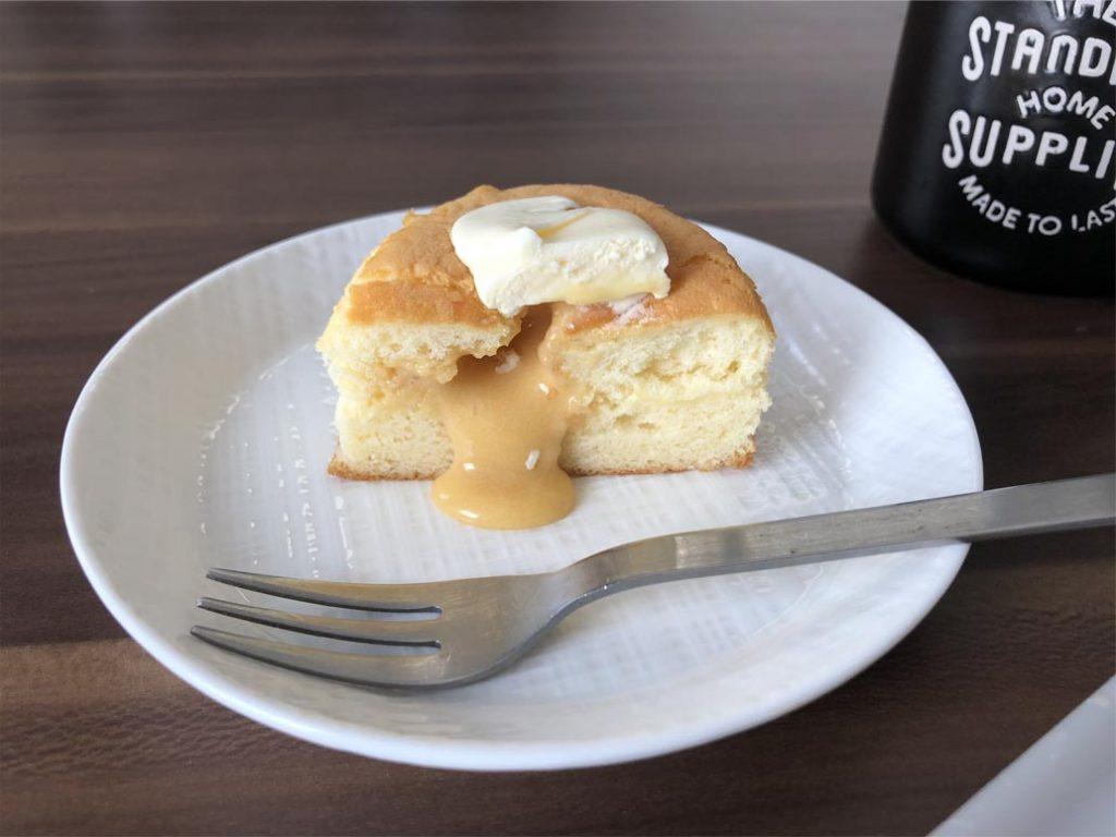 3種のバター華ふわケーキ断面図