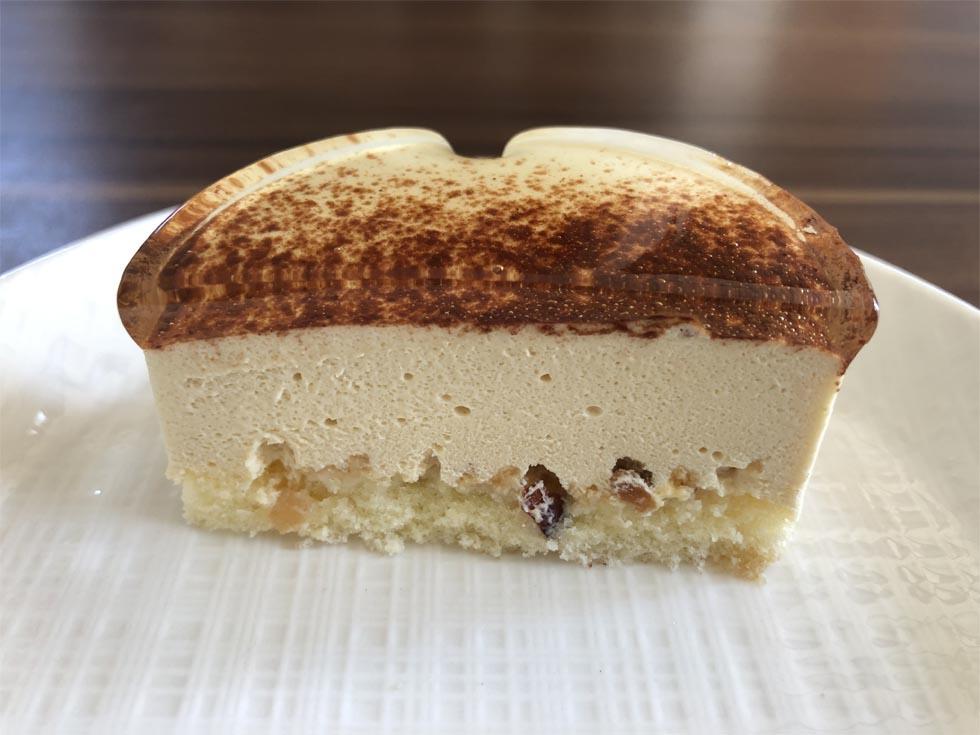 麗らかキャラメルチーズケーキ断面図2