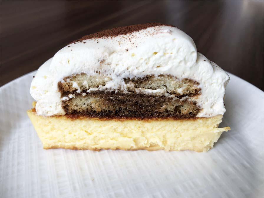 ティラミスバスチー -バスク風チーズケーキ-断面図