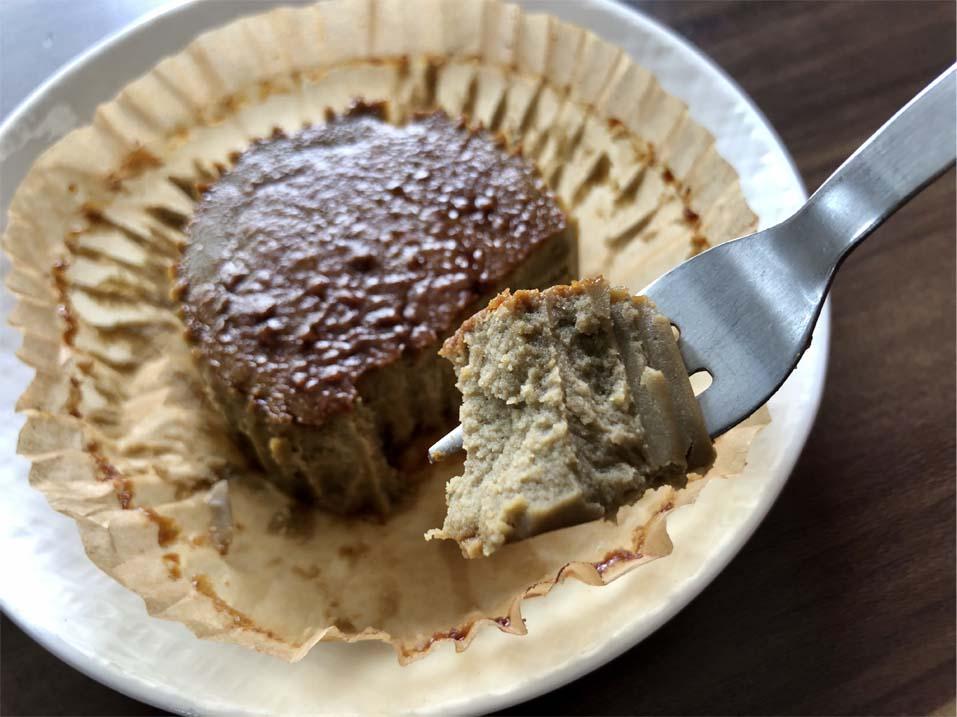バスク風ほうじ茶チーズケーキ一口サイズ