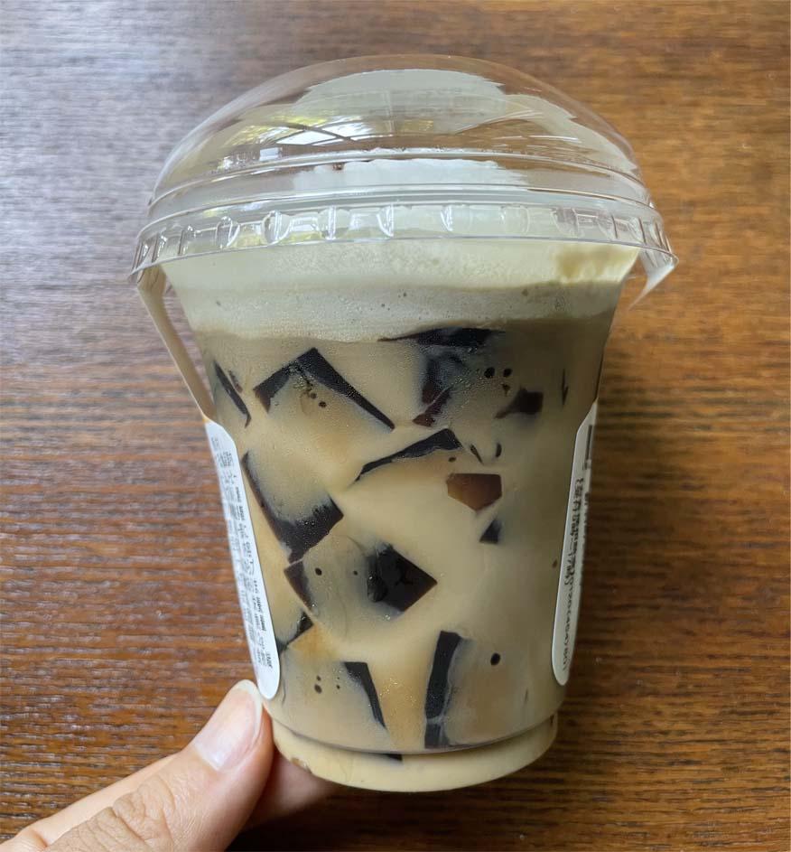 クリームたっぷりコーヒーゼリー断面図