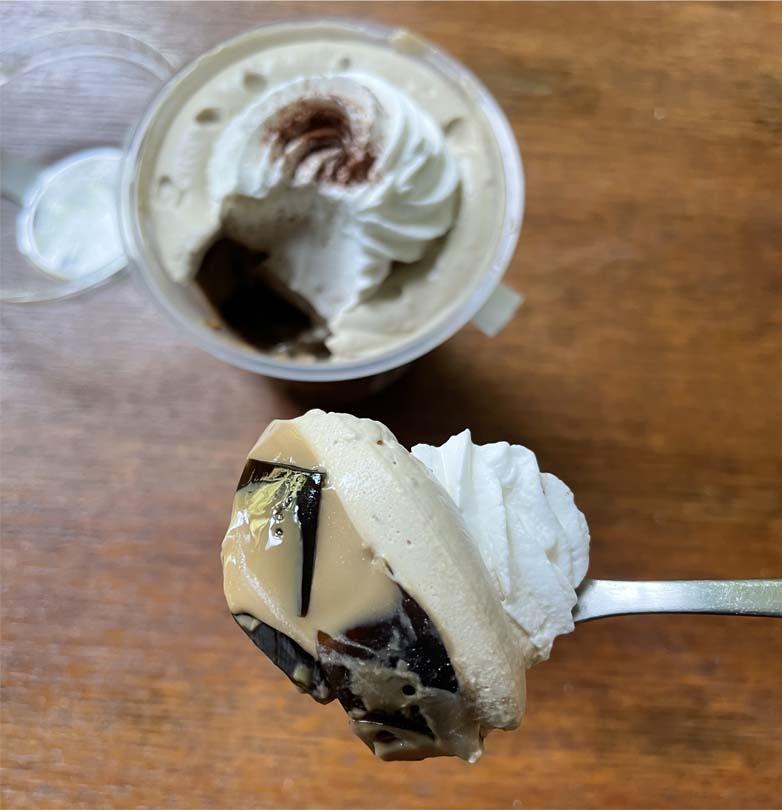 クリームたっぷりコーヒーゼリー一口サイズ