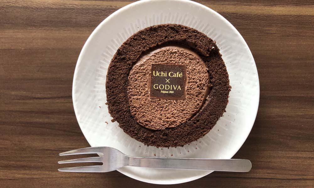 Uchi Café×GODIVA ショコラロールケーキトップ画像