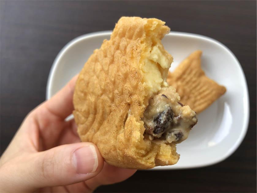 Uchi Café×八天堂 かすたーどラムレーズンたい焼き_一口サイズ