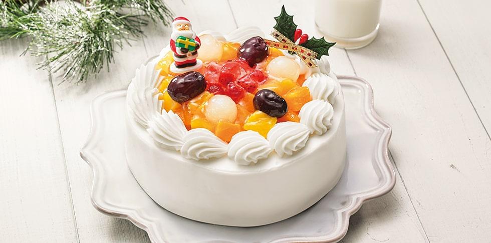 米粉と豆乳クリームのフルーツケーキ