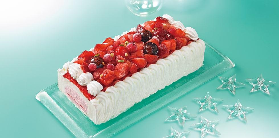 シャトレーゼ デザートアイスケーキ 4種のベリーレアチーズ