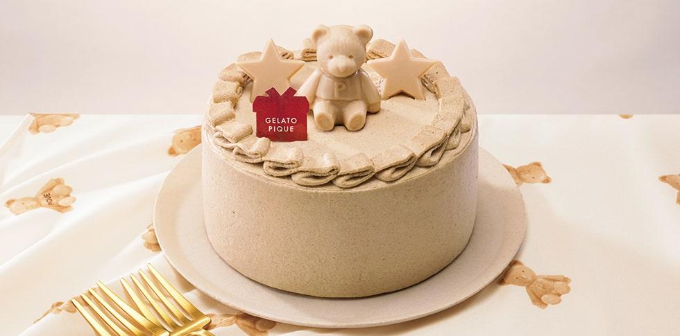 gelato piqueブラウンベアの焦がしバターキャラメルケーキ