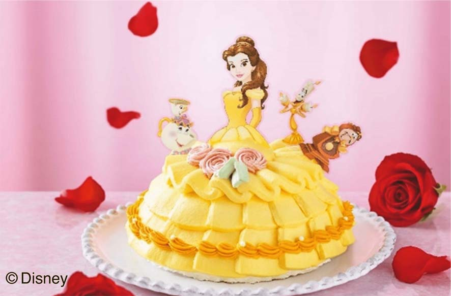 クリスマスデコレーションケーキ<美女と野獣>